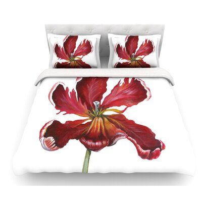 Open Tulip by Lydia Martin Featherweight Duvet Cover Size: Queen