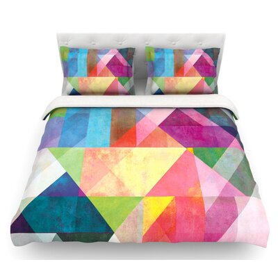 Color Blocking by Mareike Boehmer Abstract Featherweight Duvet Cover Size: Twin, Fabric: Woven Polyester