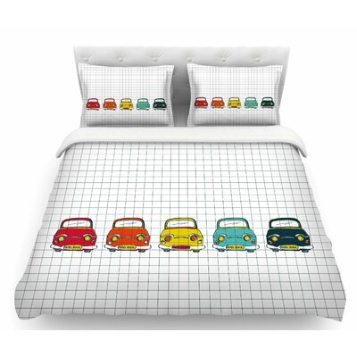 Boys Rock by MaJoBV Cars Featherweight Duvet Cover Size: Twin