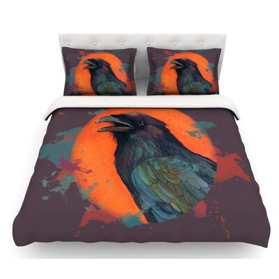 Raven Sun Alternate by Lydia Martin Featherweight Duvet Cover Size: King