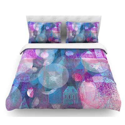 Dream Houses by Marianna Tankelevich Featherweight Duvet Cover Size: Queen