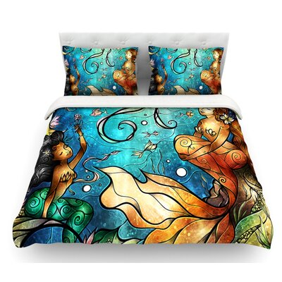 Under the Sea by Mandie Manzano Mermaids Featherweight Duvet Cover Size: Queen, Fabric: Woven Polyester