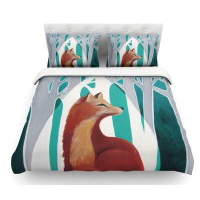 Fox Forest by Lydia Martin Featherweight Duvet Cover Size: Twin, Fabric: Woven Polyester
