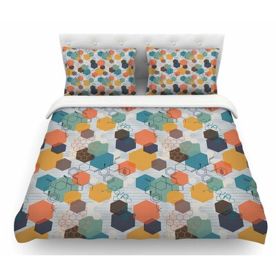 Biomolecular by Maike Thoma Science Featherweight Duvet Cover Size: Queen
