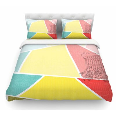 Cartagena Balconies by MaJoBV Featherweight Duvet Cover Size: King