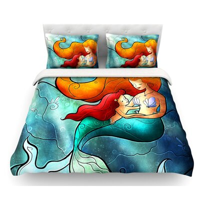 I Remember Love by Mandie Manzano Mermaid Featherweight Duvet Cover Size: King/California King, Fabric: Woven Polyester
