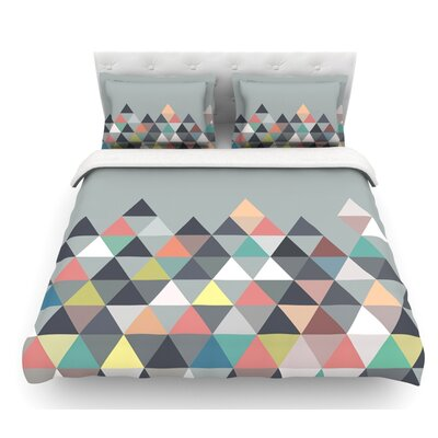 Nordic Combination by Mareike Boehmer Abstract Featherweight Duvet Cover Size: Queen, Fabric: Lightweight Polyester