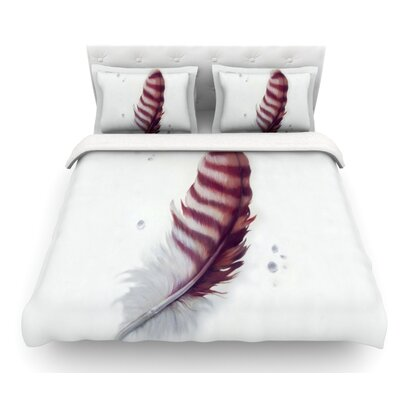 The Feather by Lydia Martin Featherweight Duvet Cover Size: Twin, Fabric: Lightweight Polyester
