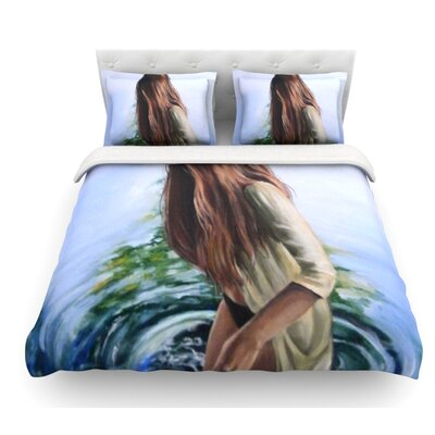 Knee Deep by Lydia Martin Featherweight Duvet Cover Size: Twin