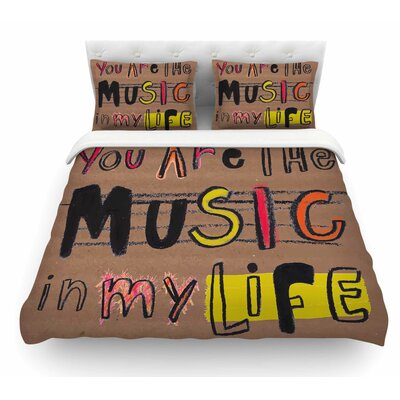 Music in My Life by MaJoBV Quote Featherweight Duvet Cover Size: Twin