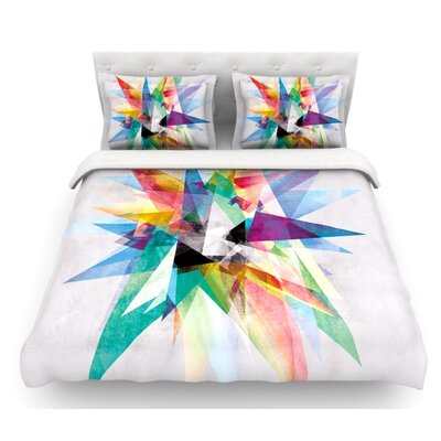 Colorful by Mareike Boehmer Abstract Featherweight Duvet Cover Size: King