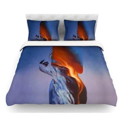 Volcano Girl by Lydia Martin Featherweight Duvet Cover Size: King, Fabric: Woven Polyester