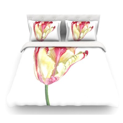 Tip Tulip by Lydia Martin Featherweight Duvet Cover Size: King