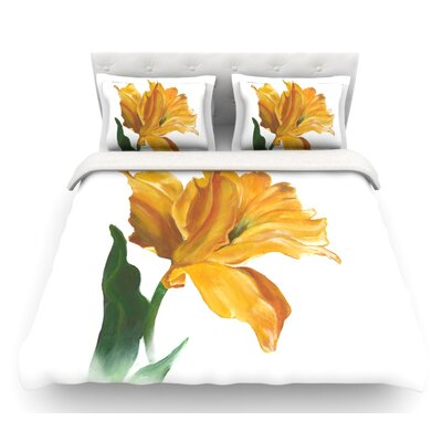 Tulip by Lydia Martin Featherweight Duvet Cover Size: Queen, Fabric: Lightweight Polyester