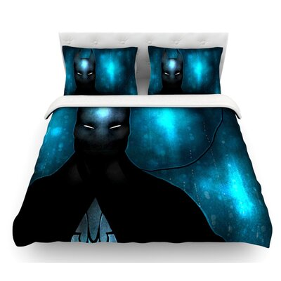 Dark Knight by Mandie Manzano Featherweight Duvet Cover Size: Queen, Fabric: Cotton