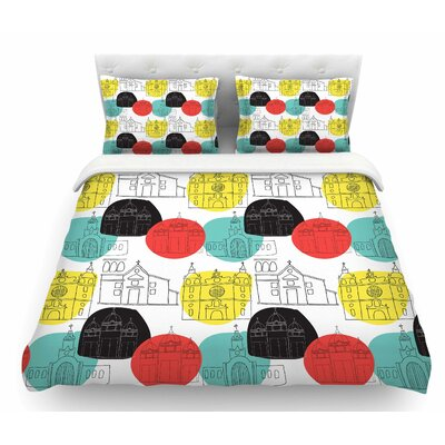 Cartagena Churches by MaJoBV Polkadot Featherweight Duvet Cover Size: Queen