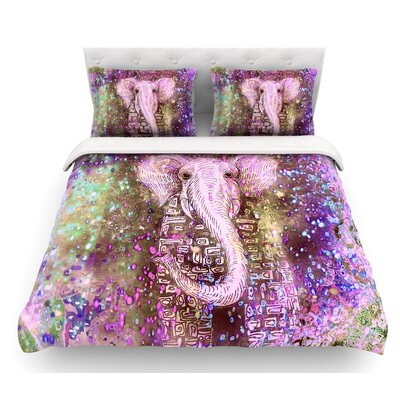 Dust Magic by Marianna Tankelevich Elephant Sparkle Featherweight Duvet Cover Size: King