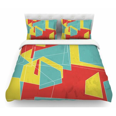 Cartagena Walls by MaJoBV Geometric Featherweight Duvet Cover Size: King