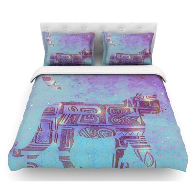 Panther at Night by Marianna Tankelevich Featherweight Duvet Cover Size: Queen, Fabric: Lightweight Polyester
