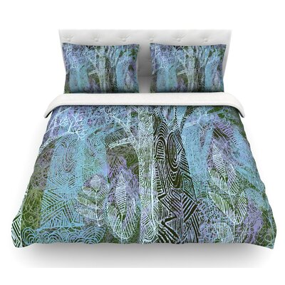 Wild Forest by Marianna Tankelevich Trees Featherweight Duvet Cover Size: Twin