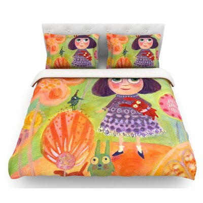 Flowerland by Marianna Tankelevich Featherweight Duvet Cover Size: Twin