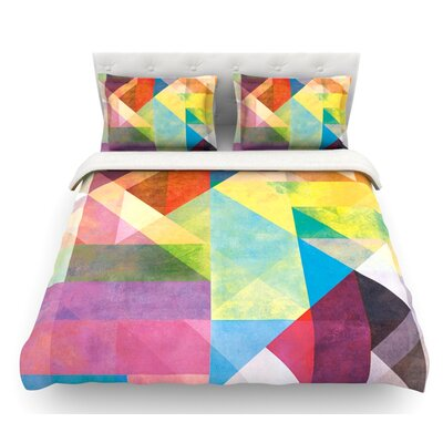 Color Blocking II by Mareike Boehmer Abstract Featherweight Duvet Cover Size: Queen