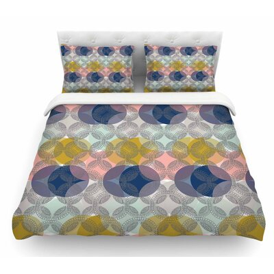 Retro Spring by Maike Thoma Featherweight Duvet Cover Size: Queen