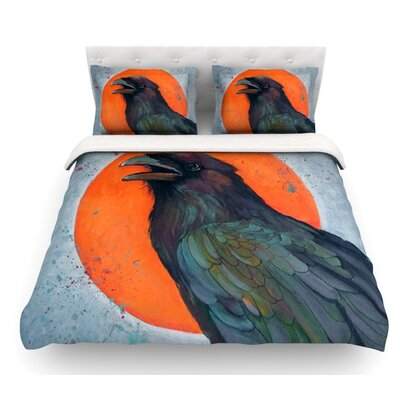 Raven Sun by Lydia Martin Featherweight Duvet Cover Size: King, Fabric: Lightweight Polyester