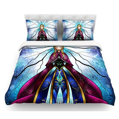 The Little Sister by Mandie Manzano Frozen Featherweight Duvet Cover Size: King, Fabric: Lightweight Polyester