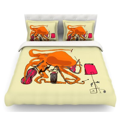 Playful Octopus by Marianna Tankelevich Featherweight Duvet Cover Size: Twin