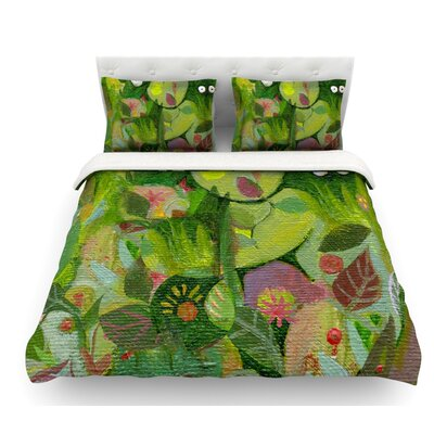 Jungle by Marianna Tankelevich Featherweight Duvet Cover Size: King, Fabric: Woven Polyester