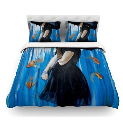 Sink or Swim by Lydia Martin Featherweight Duvet Cover Size: Twin, Fabric: Woven Polyester