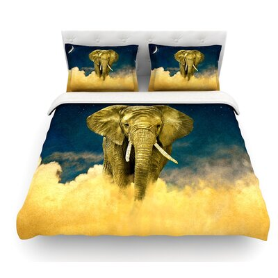 Celestial Elephant by Nick Atkinson Featherweight Duvet Cover Size: Twin