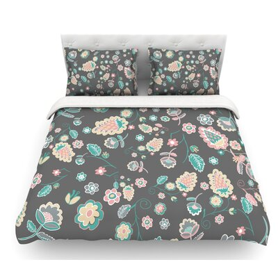 Cute Winter Floral by Nika Martinez Pastel Featherweight Duvet Cover Size: King