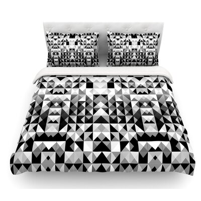 Geometrie by Nika Martinez Featherweight Duvet Cover Size: Twin, Fabric: Woven Polyester