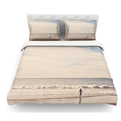Ritual by Myan Soffia Beach Sand Featherweight Duvet Cover Size: Twin, Fabric: Woven Polyester