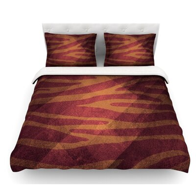 Zebra Texture by Nick Atkinson Featherweight Duvet Cover Size: King