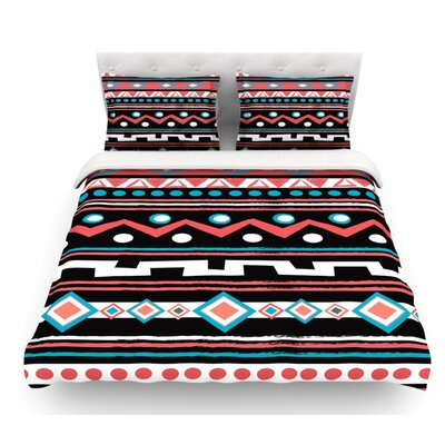 Tipi by Nika Martinez Tribal Featherweight Duvet Cover Size: Queen