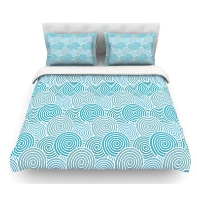 Ocean Swirl by Nick Atkinson Featherweight Duvet Cover Size: Twin, Fabric: Woven Polyester