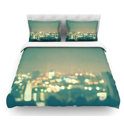 Anniversary by Myan Soffia City Lights Featherweight Duvet Cover Size: Twin, Fabric: Lightweight Polyester