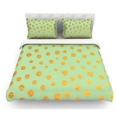 Dots by Nika Martinez Featherweight Duvet Cover Size: Queen, Color: Mint/Green, Fabric: Lightweight Polyester