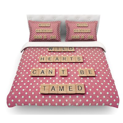 Wild Hearts Cant Be Tamed by Nastasia Cook Dots Featherweight Duvet Cover Size: Queen