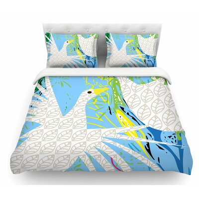 Pond Birds by Patternmuse Featherweight Duvet Cover Size: King