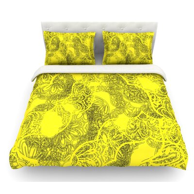 Mandala by Patternmuse Featherweight Duvet Cover Size: Twin