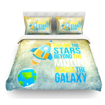Explore the Stars by Nick Atkinson Featherweight Duvet Cover Size: Queen, Fabric: Lightweight Polyester