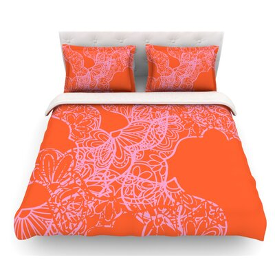 Mandala Pumpkin by Patternmuse Featherweight Duvet Cover Size: Queen