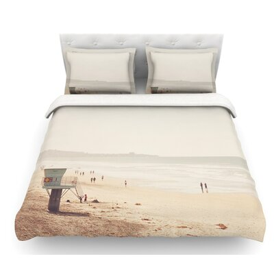 Beach Day by Myan Soffia Beach Ocean Featherweight Duvet Cover Size: Twin, Fabric: Lightweight Polyester
