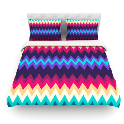 Surf Chevron by Nika Martinez Featherweight Duvet Cover Size: Queen, Fabric: Lightweight Polyester