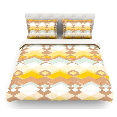 Retro Desert by Nika Martinez Featherweight Duvet Cover Size: King, Fabric: Lightweight Polyester