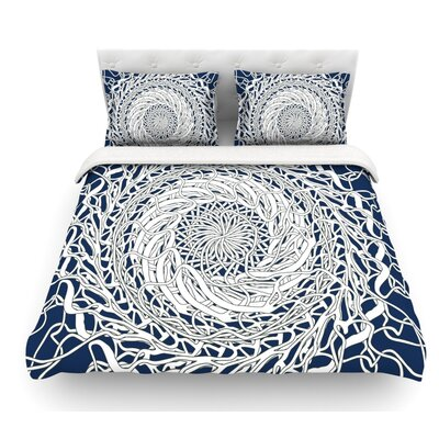 Mandala Spin by Patternmuse Featherweight Duvet Cover Size: Twin